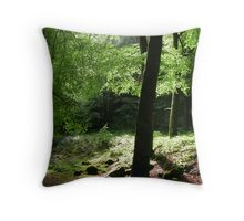 Scottish Woodlands Throw Pillow