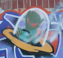 UFO Graffiti 01 by mdkgraphics
