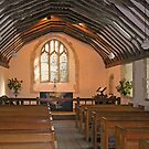 The peaceful interior of St-Swithun-upon-Kingsgate, Winchester, southern England by Philip Mitchell
