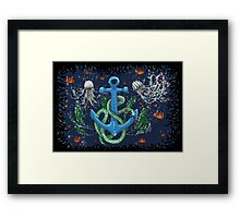 serpent of the sea Framed Print
