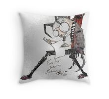 Plastic Wrapped Fan Art Throw Pillow