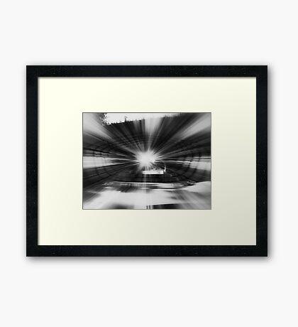 """Time Zone"" Framed Print"