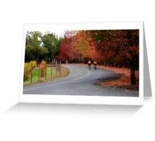 Autumn Biking Greeting Card