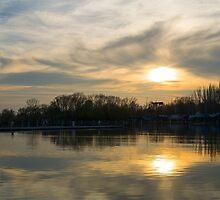 Strange Sunset Over Balaton by Inimma