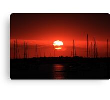 beautiful sunrise over the harbor Canvas Print