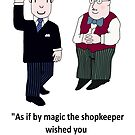 Mr Benn and the Shopkeeper 'Birthday' by Grainwavez