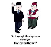 Mr Benn and the Shopkeeper 'Birthday' Photographic Print