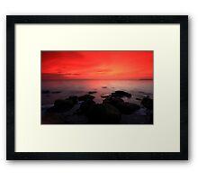 morning twlight grandeur Framed Print