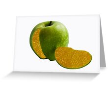 Comparing Apples and Oranges Greeting Card