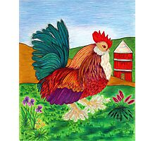 """""""Rooster with Silo"""" Photographic Print"""