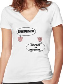 Transformers... Women's Fitted V-Neck T-Shirt