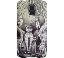 they danced under the light of the moon cat art Samsung Galaxy Case/Skin