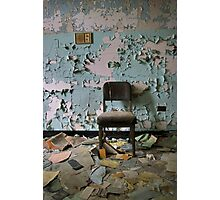 Peely Paint and Chair Photographic Print