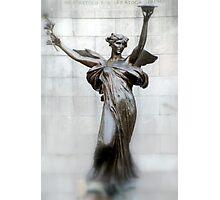 Statue at Saratoga Park Photographic Print
