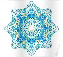 colorful mandala picture Poster