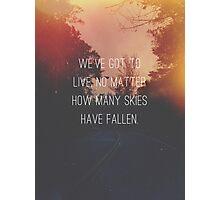Fallen Skies Photographic Print