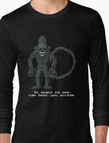 Xenomorph - Alien 1979 Pixel Art Long Sleeve T-Shirt