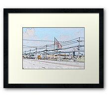 Toyota dealership. Framed Print