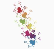 Rainbow Frogs One Piece - Short Sleeve
