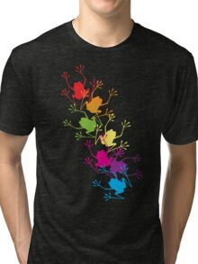 Rainbow Frogs Tri-blend T-Shirt