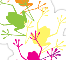 Rainbow Frogs Sticker
