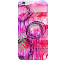 Mixed Media Purple Circles iPhone Case/Skin