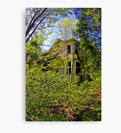 Gingerbread Victorian House Canvas Print