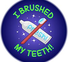 Spoonie Stickers - I brushed my teeth (large) by Parkertron