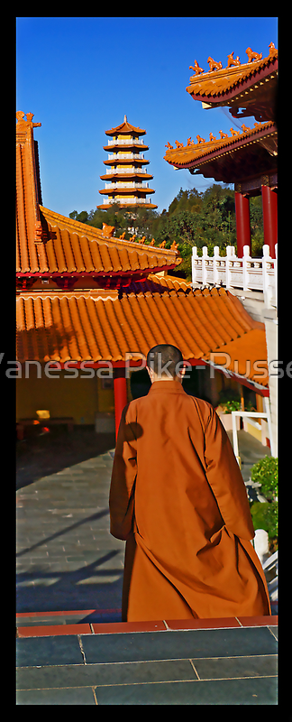 Nan Tien Temple - View from Main Temple by Vanessa Pike-Russell