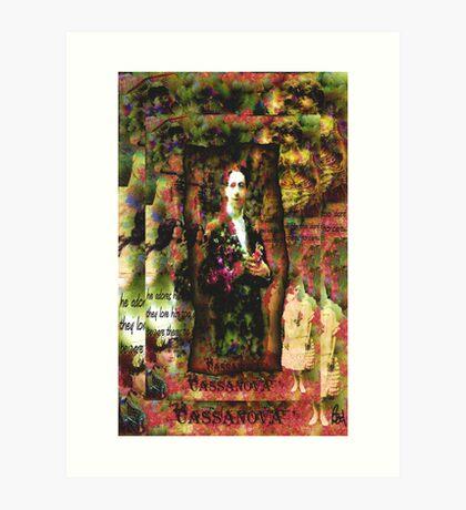 Cassanova Collage  Art Print