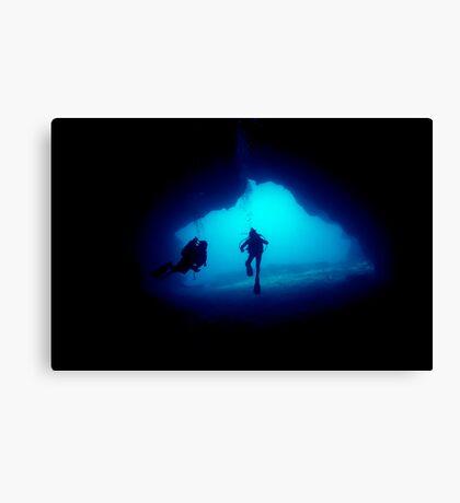 underwater cave Canvas Print