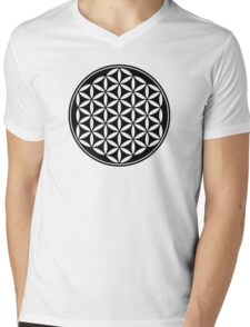 FLOWER OF LIFE - SACRED GEOMETRY - HARMONY & BALANCE Mens V-Neck T-Shirt