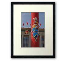 Mongolian Pillar Framed Print