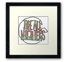 The All Nighters Official Primary Logo Framed Print