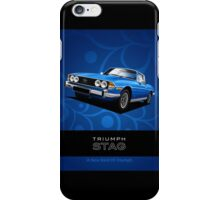 Triumph Stag period style advert iPhone Case/Skin