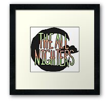 The All Nighters Official Secondary Logo Framed Print