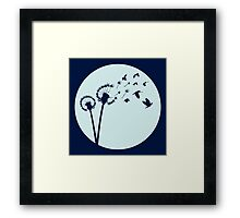 Dandelion Bird Flight Framed Print