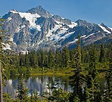 Mt. Shuksan, Picture Lake (3) (North Cascades National Park) by Barb White