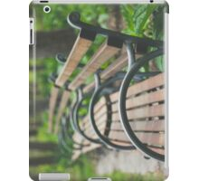 Garden Benches iPad Case/Skin