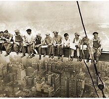 Men at Work Over City by CrassService