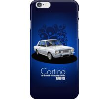 Ford Cortina 1600GT period advert iPhone Case/Skin