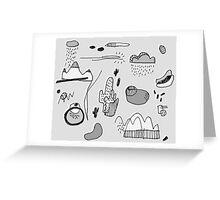 Cactus Mountain black&white Greeting Card