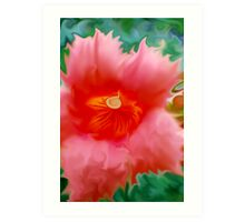 Trumpet Flower Abstract  Art Print