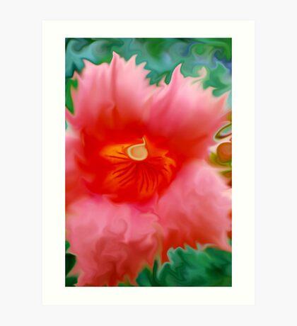 Trumpet Flower Abstract  Art Print