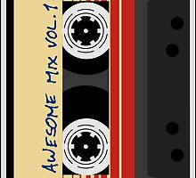 Awesome, Mix Tape Vol.1, Guardians of the galaxy by boom-art