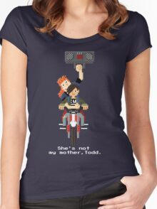 John Connor and Tim - Terminator 2 Women's Fitted Scoop T-Shirt