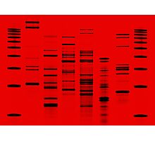 DNA Art Portrait - Firefly Photographic Print