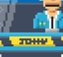 Johnny Cab - Total Recall Pixel Art Sticker