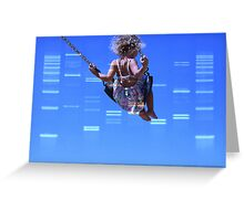 DNA Art Portrait - DNA Clouds with custom photograph Greeting Card