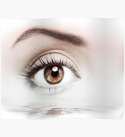 Details of beauty woman eye Poster